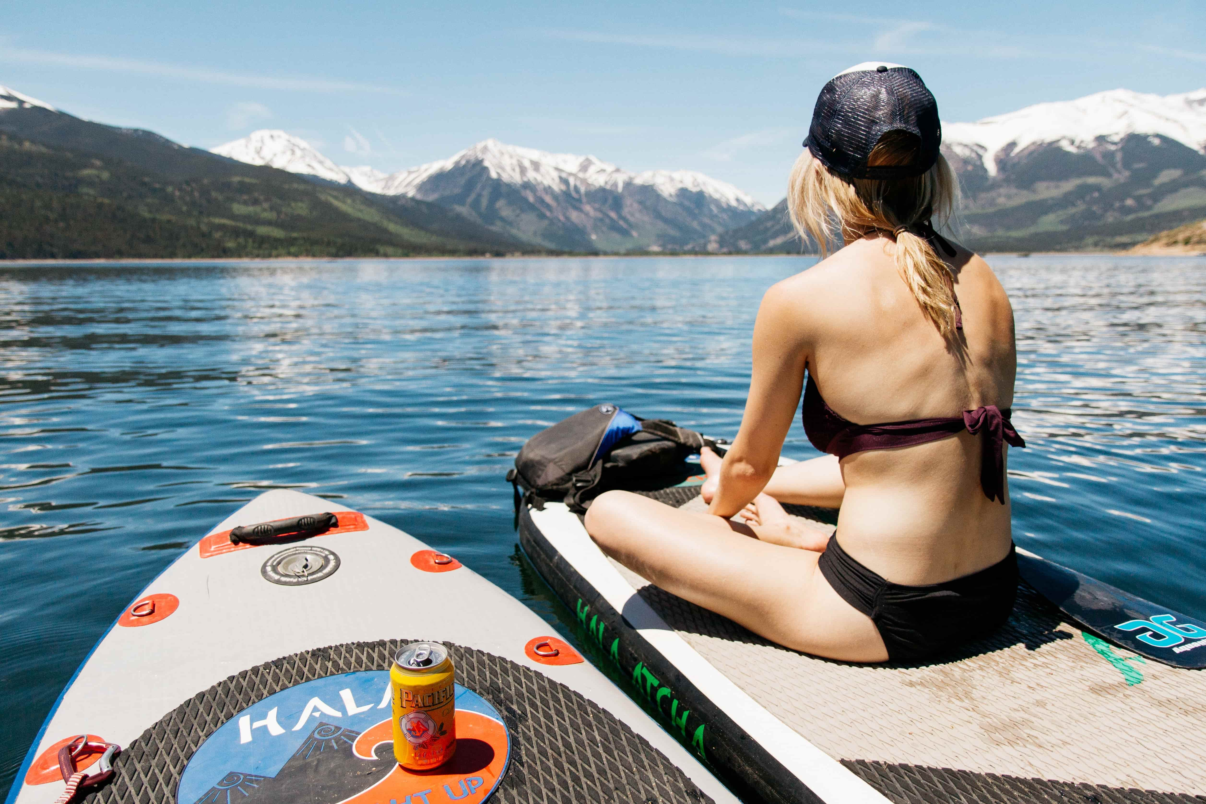 paddle surf chica